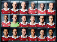 COLLECTION OF WEST HAM UNITED 2013-14 FOOTBALL PHOTOS 18 PLAYER PORTRAITS