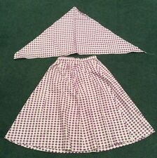 Hoe Down Skirt And Neckerchief Dance Costume Or Fancy Dress