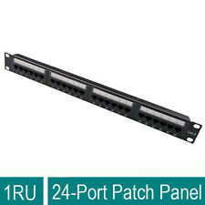 """CAT6 UTP 19"""" PATCH PANEL DUAL USE IDC 24 PORTS WITH BACK BAR SHIELDED"""