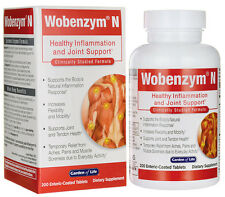 Garden of Life Wobenzym N 200 Tablets  Free Shipping