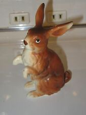 Vintage Lefton Brown Easter Rabbit - H6664 - Standing on Back Legs
