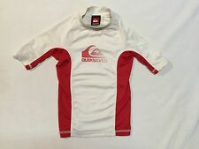 QUIKSILVER RASH GUARD LITTLE KIDS 4 UV protection white red