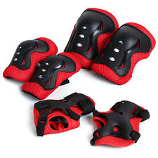 Red Roller Skating Skateboard Knee Elbow Wrist Protective Guard Pad Gear For Kid