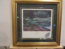 Muirfield Village Golf Hole #12 Framed Lithograph by Larry Dyke