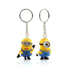 Despicable Me Minion 2 pcs Rubber Doll Keychain Toy Xmas Birthday Gift Kids