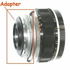 Micro 4/3 Olympus,Lumix,Panasonic,raccordo a obiettivo Canon 7 e Canon TV - 3611