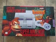 NEW Super Nintendo Entertainment System Donkey Kong Set Bundle Console SNES