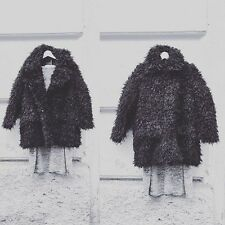 CHEAP MONDAY CURL JACKET FAUX FUR FLUFFY WINTER COAT, UK 6, URBAN OUTFITTERS