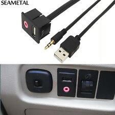 Fit For Volkswagen VW Car Adapter RCA AUX USB Audio Switch Socket Accessories