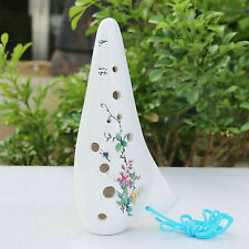 12 Hole Ceramic Ocarina Flute Alto C Chinese Traditional Design Paint Instrument