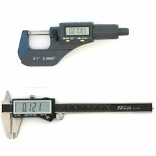 DIGITAL ELECTRONIC MICROMETER & CALIPER SET MACHINIST INSPECTION TOOL KIT NEW