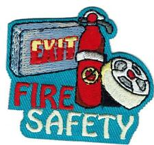 Girl Boy Cub FIRE SAFETY PLANNING Alarm Fun Patches Crests Badges SCOUT GUIDE