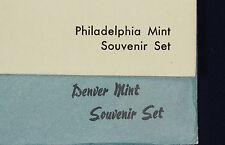1982 Philadelphia and Denver Mint Souvenir Sets.  md82 mint set