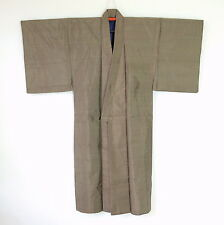 Japanese Vintage Men's Brown Silk Kimono H70