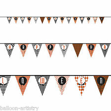 14FT Happy Halloween SPOOKY stile PENNANT FLAG BANNER Bunting Partito Decorazione