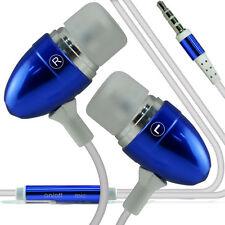Paquete Doble - Azul Manos Libres Auriculares Con Micrófono Para Apple Iphone 6