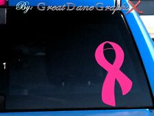 Breast Cancer Ribbon #1 Vinyl Car Decal Sticker / Choose Color - HIGH QUALITY
