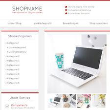 """eBay Auktionsvorlage """"Miral"""" Rot Responsive Design HTML Template Vorlage"""
