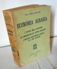 Dragoni,ECONOMIA AGRARIA,Hoepli 1932[manuale,storia agricoltura,impresa agricola