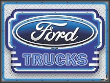 FORD TRUCKS DEALER NEW DESIGN NEON STYLE PRINTED BANNER SIGN GARAGE ART 4' X 3'