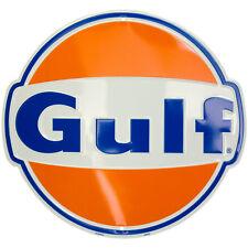"""""""GULf"""" Round Circle Sign Gulf Oil Gasoline Gas Pump Station Garage GAME ROOM"""