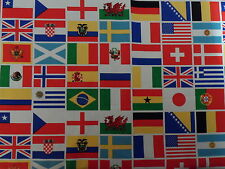 World Flags 100% Cotton Fabric Material BY HALF METRE