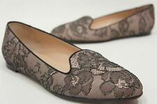 VALENTINO LACE  FLAT LOAFER BEIGE SHOES 38/7.5 $695