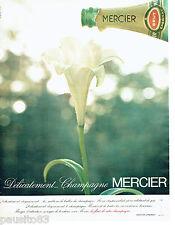 PUBLICITE ADVERTISING 086  1967  le champagne Mercier brut