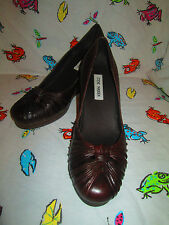 "Ladies Shoes by Steve Madden, Size 9B, Brown Leather, 3"" Heels,EXCD"