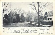Early View of Homes on a Residential Street, North Plainfield NJ 1906