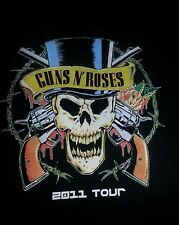 Guns N Roses t shirt 2011 tour 2xl for men punk rock and rock and roll