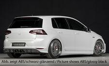 Rieger Heckeinsatz im Carbon-Look für Doppelendrohr mittig für VW Golf 7 R