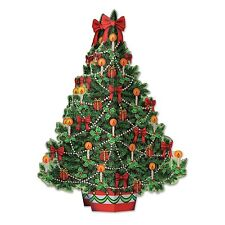Vintage style 3-D CHRISTMAS TREE CENTERPIECE Holiday Party Decoration