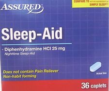 SLEEP AID Diphenhydramine 25 mg Generic Simply Sleep,  72 Caplets/pk