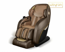 Weyron King Royal Massage Chair Recliner Shiatsu Zero Gravity Real Leather Chair