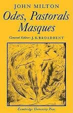 Odes, Pastorals, Masques (Cambridge Milton Series for Schools and Coll-ExLibrary
