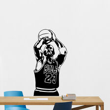 Michael Jordan Wall Decal Basketball Vinyl Sticker Bulls Poster Gym Decor 157nnn