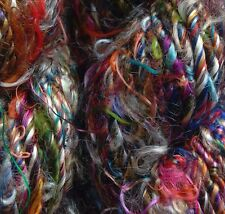 Sari Silk Yarn, 100g, Jewel tones,  Knit/Crochet/Weave/Textile Arts/Crafts.