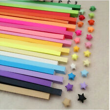 80pcs Origami Lucky Star Paper Strips Folding Paper Ribbons Colors HUCA