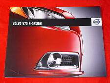 VOLVO V70 R-Design Prospekt von 2008