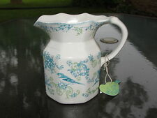 Johnson Brothers Vintage Charm Pitcher Blue Green Birds Flowers