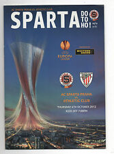 Orig.PRG     Europa League  12/13   AC SPARTA PRAG - ATHLETIC BILBAO  !!  SELTEN