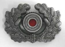 German Wreath Cockade Aluminium Metal Army Heer Visor Cap Hat Badge WW2 WWII Old