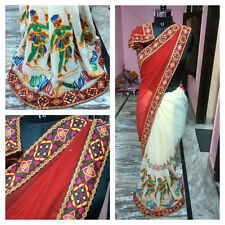 Indian Designer Enthnic Party Wear Saree Bollywood with Blouse Sari
