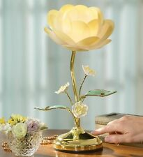 Beautiful Golden Lotus Flower Home Table Touch Lamp