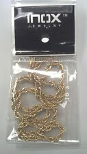 "INOX, GOLD *FINISH STAINLESS STEEL CHAIN, FRENCH ROPE, 20"","