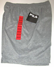 NWT FILA GRAY SIZE MEDIUM ATHLETIC SHORTS POLYESTER & SPANDEX