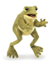 Funny Frog Puppet with Moveable Mouth & Forelegs by Folkmanis Puppets T3033 NWT