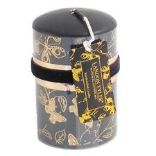 Butterfly Design PILLAR CANDLE.... black and gold coloured elegant display decor