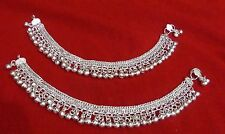 Tribal kuchi silver bells lot 2 anklet ankle bracelet belly dance jewelry India